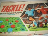 VINTAGE, TRIANG GAME. Tackle 1960s 1970s football board game.