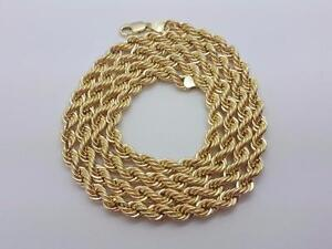 Torsade en or 10 karat Neuf 6mm  / Rope chain 10 karat gold all lenght all Sizes 6mm