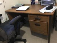 Study Table along with chair and books Reck