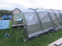 Bargain £275 OUTWELL Montana 6 tent, inc front extension, footprint, site power supply
