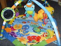baby play gym with light and sound
