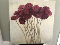 Whimsical Gerbera Daisies by Fabrice De Villeneuve - beautiful picture on canvas