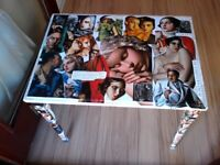 Upcycled, decoupaged table