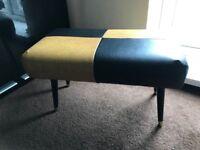 vintage retro footstool