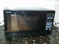 Sharp R-372KM Black microwave oven for sale