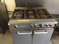 Commercial 6 hob cooker