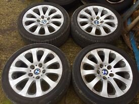 A Set Of BMW Alloy Wheels, 17 Inch, With Run-flat Tyres