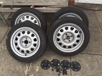 VW G60, 15 inch Steel Wheels