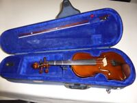 Stentor Student 1-2 size Violin, Case and Bow