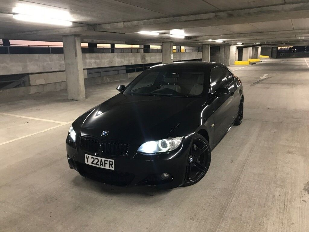 2007 black bmw 335d m sport msport e92 coupe step auto fsh. Black Bedroom Furniture Sets. Home Design Ideas