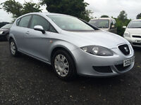 2009 SEAT LEON 1.6i ESSENCE 65K FULL 12 MONTHS MOT DEBIT AND CREDIT CARDS WELCOME