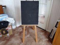 Kids blackboard painting free standing Easel Vintage