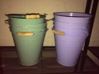 Purple and Green Flower Pots (5 pieces each)