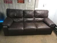 Three seater leather sofa