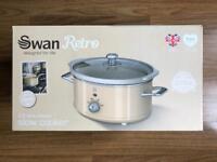 BRAND NEW CREAM SWAN RETRO 3.5 LITRE SLOW COOKER