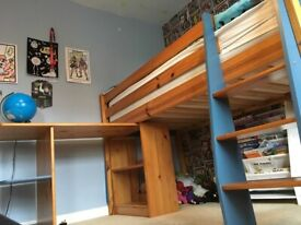 Used solid wood cabin bed NO MATTRESS