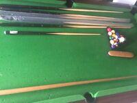 Pool table 7ft Slated
