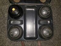 Drakes Pride Professional Lawn Bowls Set Of 3, Size 0H & VITALITE C.B.B Co Ltd Size 5 Bias 3