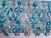 Beautiful Blue & Silver lace.