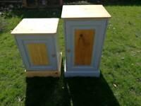 2 x pine cupboards