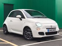 Fiat 500 1.2 S Sport White Start Stop Bluetooth Low Miles Leather Seats Alloy Wheels £30 Tax 2013