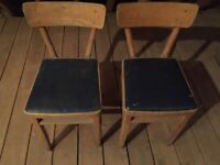 Vintage chairs (pair) from 1930s/1940s