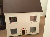 WOODEN HAND MADE DOLLS HOUSE ..as new
