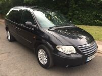 2005 55 CHRYSLER VOYAGER LX CRD AUTO BLACK 7 SEATER DIESEL 117,000 MILES BARGAIN