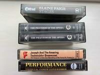 4 prerecorded cassettes, musicals