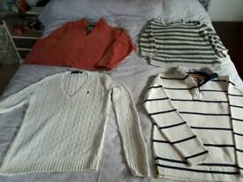 4x lovely jumpers size 12/14 Medium (White Stuff, Ralph Lauren, Gap, M&S)