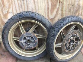 various motorbike wheels