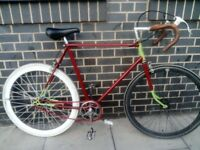 Rare Vintage Premium Single Speed 58cm Road Bike in Perfect Order