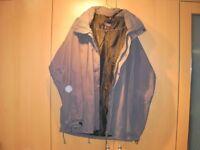 Mens Outdoor Sportswear fully weatherproof Coat with hood. Size XL,