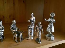 Pewter Victorian style figurines
