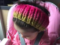Exclusive and unique chunky hair / head band for adult merino wool