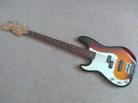 Left-handed Fender Squier P-Bass w/Gig Bag