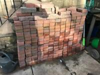 Leftover spare block paving bricks