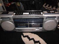vintage philips boombox ghetto blaster d-8334
