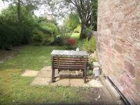 Galston - lovely 1 bedroom flat - extensive gardens. Gas central heating. Ready to move in.