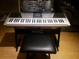ROCKJAM RJ-661 KEYBOARD, STAND AND STOOL
