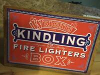 Kindling fireside wood storage box