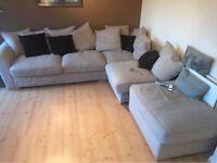 Cream corner sofa - left hand