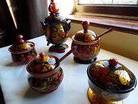 Decorative set of ornaments brand new