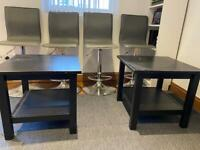 2 black coffee table for sale! £30 for both