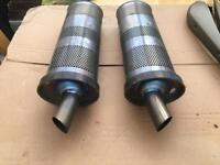 Yamaha r1 04/05 5vy modified exhaust silencers cans