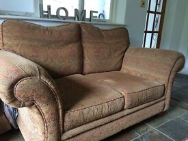 Lovey Sofa Ochre with Wodden Feet