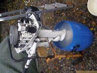 JOHNSON 6HP TWIN, LONGSHAFT OUTBOARD MOTOR.