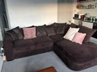 L shaped Brown corner sofa