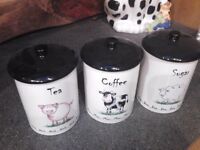 Animal tea/coffee and sugar containerx
