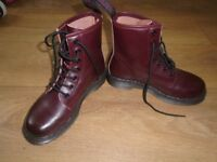 Dark cherry red - lace up boots 'like Dr Martens' size 4 worn once